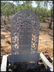 Henry Kaye's headstone, sent out from England by his grieving mother. This grave marker is not located at the actual site where Kaye was buried.
