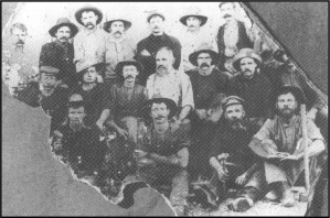 An undated image of miners from the Woolgar goldfield.