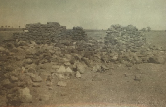 An historic view of one of the surviving stone buildings at the Boulia NMP barracks (courtesy of the Qld Police Museum)